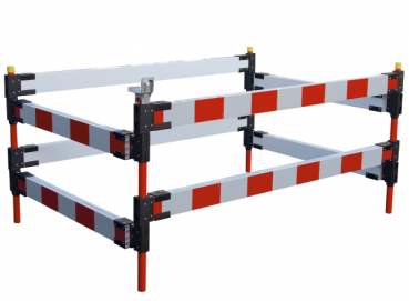 Telescopic barrier for securing sewage and road works 119KT.2 - 1.5 m long