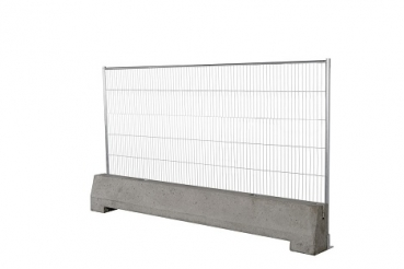 Metal fence with beton barrier