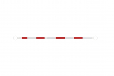 Telescopic barrier white/red