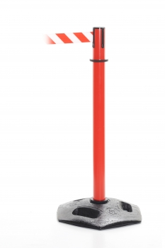 Retractable barrier - Heavy Duty post red