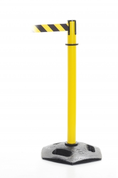Retractable barrier - Heavy Duty post yellow