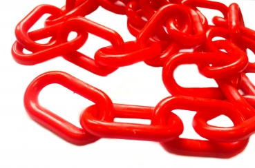 Plastic chain 6mm red