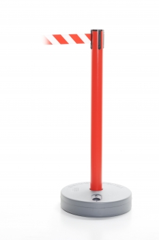 Retractable barrier - Outdoor post red