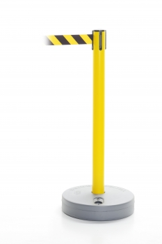 Retractable barrier - Outdoor post yellow