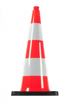 Traffic cone 750 mm PVC/REC, reflective