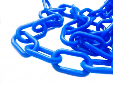 Plastic chain 8 mm blue