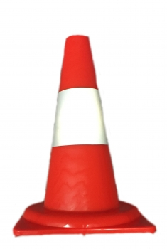 Traffic cone 340 mm PVC - Reflective