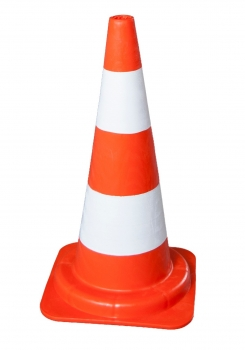 Traffic cone 540 mm PVC Reflective