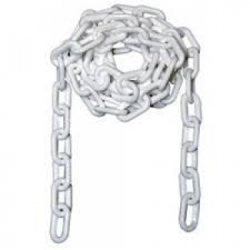 Plastic chain 6mm white