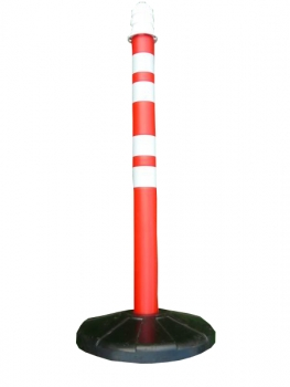 Barrier post 1200 mm, rubber base