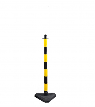 Chain post 900 mm, concrete base, yellow / black