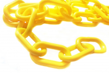 Plastic chain 6mm yellow