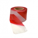 Barrier tape 200 m, white / red