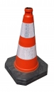 Traffic cone 500 mm REC, reflective
