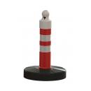 Barrier post 650 mm, plastic base