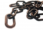 Plastic chain 8 mm brown