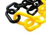 Plastic chain 6mm yellow/black
