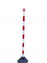 Chain post 1300 mm, concrete base, white / red