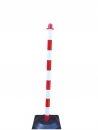 Chain post 1100 mm, recycling foot, white / red