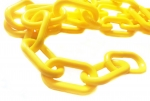 Plastic chain 8 mm yellow
